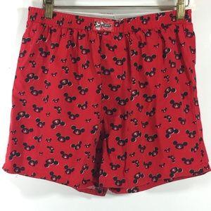 Disney Mickey Mouse Boxer shorts Size Small Red